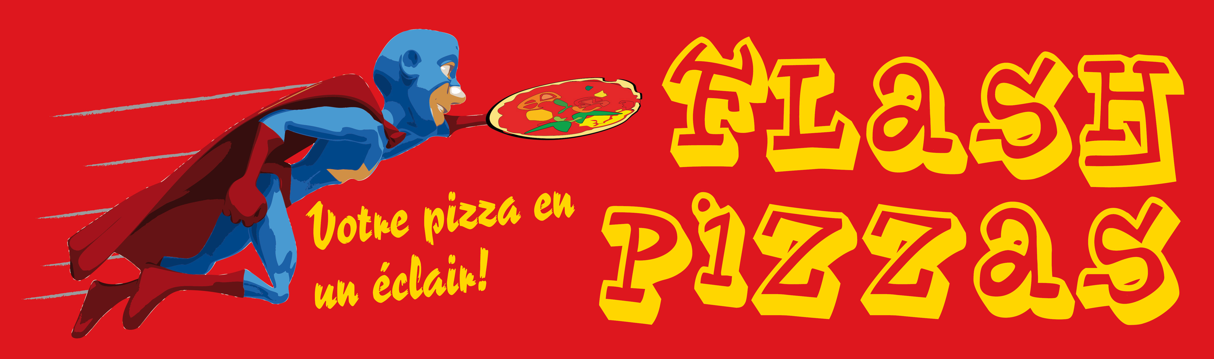 Logo Flash pizza